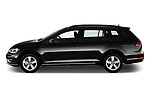Car driver side profile view of a 2018 Volkswagen Golf SportWagen SE 5 Door Wagon