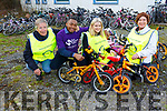 The Tralee Rotary Club and Kerry Down Syndrome receive their bicycle dontation&rsquo;s at the Tralee Rugby Club on Saturday morning. <br /> L to r: Pierce Wall (President of Rotary Club Tralee), Synvaen Kalela (Kerry Down Syndrome), Lillian Wall and Grace O&rsquo;Donnell.