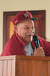 "Former Washington State head baseball coach and Cougar Legend, Chuck ""Bobo"" Brayton, speaks to the crowd of former players and fans during the 2010 Cougar Baseball Alumni Weekend banquet at Palouse Ridge on the WSU campus in Pullman, Washington, on September 10-11, 2010."