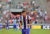 01.08.2015. Cologne, Germany. Pre Season Tournament. Colonia Cup. Valencia CF versus FC Porto.  With both sides having missed their third penalties, the score stood at 3-3 after four. Sub Ruben Neves strides up to put Portos fifth away.