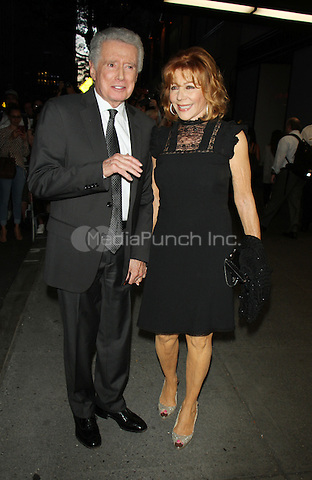 NEW YORK, NY-August 03: Regis Philbin, Joy Philbin at Tony Bennett Birthday party in honor of 90 years of Musical Legacy  at the Rainbow Room in New York. NY August 03, 2016. Credit:RW/MediaPunch