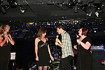 For One Night Only Divas of Daytime - Kassie DePaiva - Bobbie Eakes - Kathy Brier greet Daniel Kennedy who let out that he is a great singer as he trained at Julliard and is related to Linda Ronstadt on September 13, 2009 at Crash Mansion, NYC, Ny (Photo by Sue Coflin/Max Photos)