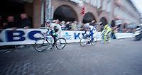 101st Scheldeprijs ..Matthew Brammeier (IRL) leading the race with a 3man break