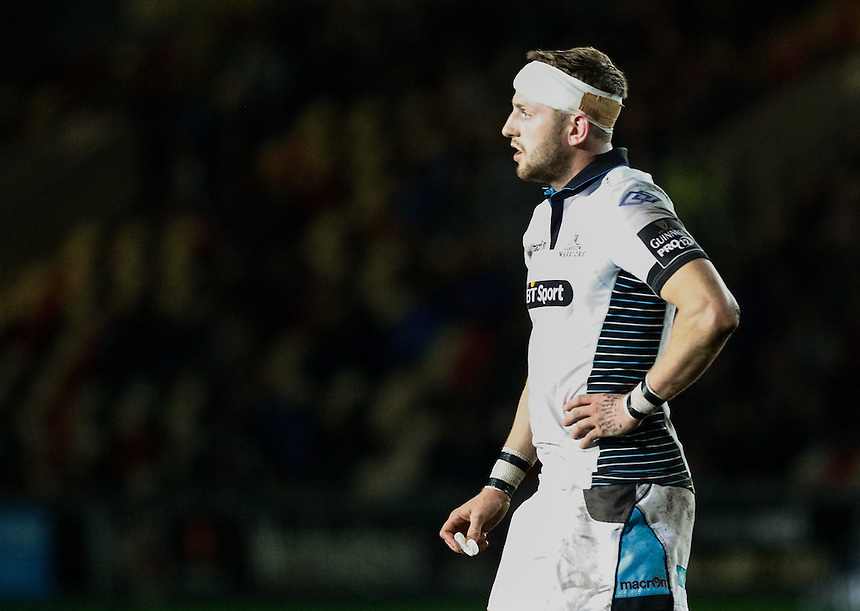 Finn Russell of Glasgow Warriors<br /> <br /> Photographer Simon King/CameraSport<br /> <br /> Guinness PRO12 Round 5 - Newport Gwent Dragons v Glasgow Warriors - Friday 30th September 2016 - Rodney Parade - Newport<br /> <br /> World Copyright &copy; 2016 CameraSport. All rights reserved. 43 Linden Ave. Countesthorpe. Leicester. England. LE8 5PG - Tel: +44 (0) 116 277 4147 - admin@camerasport.com - www.camerasport.com