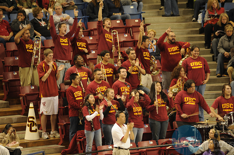 13 DEC 2007: The University of Southern California takes on Stanford University during the Division I Women's Volleyball Semifinals held at ARCO Arena in Sacramento, CA. Stanford defeated USC 3-2 to advance to the Championship game. Ryan McKee/NCAA Photos