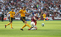 West Ham United's Marko Arnautovic and Wolverhampton Wanderers' Ryan Bennett<br /> <br /> Photographer Rob Newell/CameraSport<br /> <br /> The Premier League - West Ham United v Wolverhampton Wanderers - Saturday 1st September 2018 - London Stadium - London<br /> <br /> World Copyright © 2019 CameraSport. All rights reserved. 43 Linden Ave. Countesthorpe. Leicester. England. LE8 5PG - Tel: +44 (0) 116 277 4147 - admin@camerasport.com - www.camerasport.com