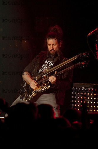 GUNS N' ROSES - guitarist Ron 'Bumblefoot' Thal performing live in at the Palladium in Hollywood, CA USA - March 9, 2012. Photo © Kevin Estrada / Iconicpix