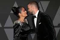 HOLLYWOOD, CA - NOVEMBER 11: Salma Hayek, Justin Timberlake at the AMPAS 9th Annual Governors Awards at the Dolby Ballroom in Hollywood, California on November 11, 2017. Credit: David Edwards/MediaPunch /NortePhoto.com