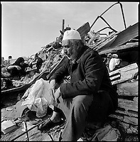 Zeitoun, Gaza Strip, Jan 19 2009.Farez Hamdi Mahmoud Samoudi is in shock after loosing 29 innocent members of his family. The Israeli army destroyed a dozen houses belonging to the Samouni clan, then used the remaining 3 houses for almost two weeks as a fortified firing positions towards the southern side of Gaza city..