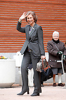 Queen Sofia of Spain visit King Juan Carlos of Spain at La Milagrosa Hospital in Madrid, Spain. March 03, 2013. (ALTERPHOTOS/Caro Marin) /NortePhoto