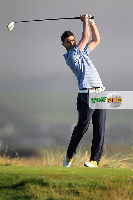 Sean Ryan (The Royal Dublin) on the 2nd tee during the South of Ireland Amateur Open Championship Second Round at Lehinch Golf Club  28th July 2013 <br /> Picture:  Thos Caffrey / www.golffile.ie
