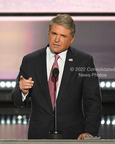 United States Representative Mike McCaul (Republican of Texas), Chair US House Committee on Homeland Security makes remarks at the 2016 Republican National Convention held at the Quicken Loans Arena in Cleveland, Ohio on Monday, July 18, 2016.<br /> Credit: Ron Sachs / CNP<br /> (RESTRICTION: NO New York or New Jersey Newspapers or newspapers within a 75 mile radius of New York City)