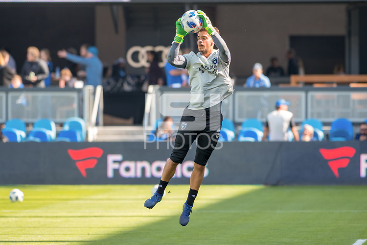 San Jose, CA - Sunday October 21, 2018: JT Marcinkowski prior to a Major League Soccer (MLS) match between the San Jose Earthquakes and the Colorado Rapids at Avaya Stadium.