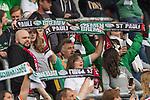 22.07.2017, Millerntor-Stadion, Hamburg, GER, FSP, FC St. Pauli vs SV Werder Bremen<br /> <br /> im Bild<br /> Fans von Werder Bremen mit Fan-Schals auf Trib&uuml;ne, <br /> <br /> Foto &copy; nordphoto / Ewert