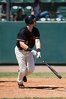 Visalia Rawhide first baseman Pavin Smith (6) starts down the first base line during a California League game against the Stockton Ports at Visalia Recreation Ballpark on May 9, 2018 in Visalia, California. Stockton defeated Visalia 4-2. (Zachary Lucy/Four Seam Images)
