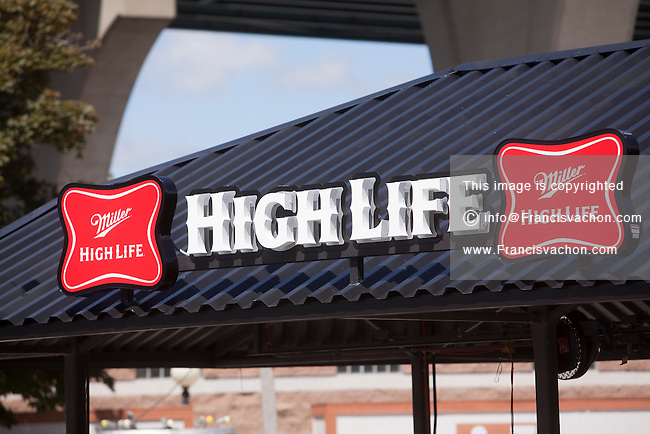Miller High Life logo is seen at a bar on the Henry W. Maier Festival Park (Summerfest Grounds) in Milwaukee, Wisconsin, Friday June 28, 2013. Summerfest is a 11 days long music festival made of 11 stages with performances from over 700 bands.