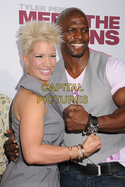 "TERRY CREWS & GUEST.Tyler Perry's ""Meet The Browns"" World Premiere at The Cinerama Dome, Hollywood, California, USA,.13 March 2008..half length.CAP/ADM/BP.©Byron Purvis/Admedia/Capital PIctures"