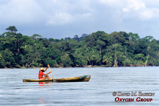 Man In Canoe