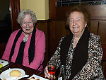 May Carpenter and Kathleen Sullivan pictured at Collon senior citizens christmas party at Watters lounge. Photo:Colin Bell/pressphotos.ie