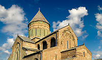 Pictures &amp; images of the Eastern Orthodox Georgian Svetitskhoveli Cathedral (Cathedral of the Living Pillar) , Mtskheta, Georgia (country). A UNESCO World Heritage Site.<br /> <br /> Currently the second largest church building in Georgia, Svetitskhoveli Cathedral is a masterpiece of Early Medieval architecture completed in 1029 by Georgian architect Arsukisdze on an earlier site dating back toi the 4th century.