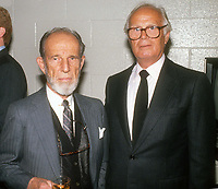 Hume Cronyn Richard Widmark 1985<br /> Photo By John Barrett/PHOTOlink.net / MediaPunch