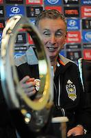 150428 A-League Football - A-League Trophy Phoenix Presser