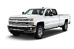 2016 Chevrolet Silverado-3500HD LT-Crew-SRW 4 Door Pickup Angular Front stock photos of front three quarter view