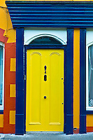 Traditional brightly coloured doorway in Kinsale, County Cork, Ireland