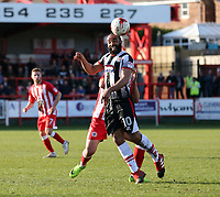 Dominic Vose of Grimsby Town <br /> during the Sky Bet League 2 match between Accrington Stanley and Grimsby Town at the Fraser Eagle Stadium, Accrington, England on 25 March 2017. Photo by Tony  KIPAX / PRiME Media Images.