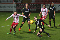 Harry Beautyman of Stevenage and Dessie Hutchinson of Brighton during Stevenage vs Brighton & Hove Albion Under-21, Checkatrade Trophy Football at the Lamex Stadium on 7th November 2017