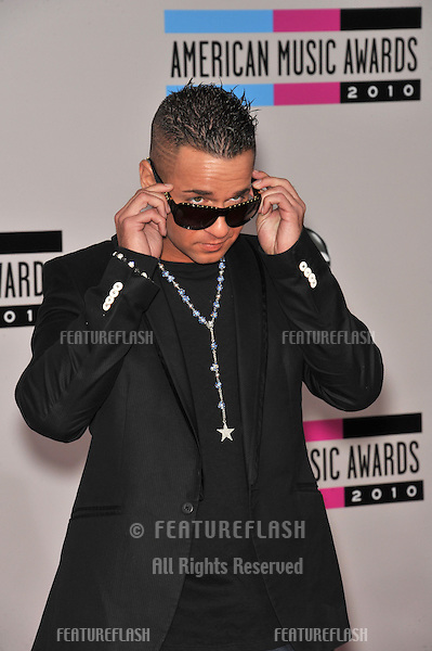 Mike Sorrentino, aka The Situation, at the 2010 American Music Awards at the Nokia Theatre L.A. Live in downtown Los Angeles..November 21, 2010  Los Angeles, CA.Picture: Paul Smith / Featureflash