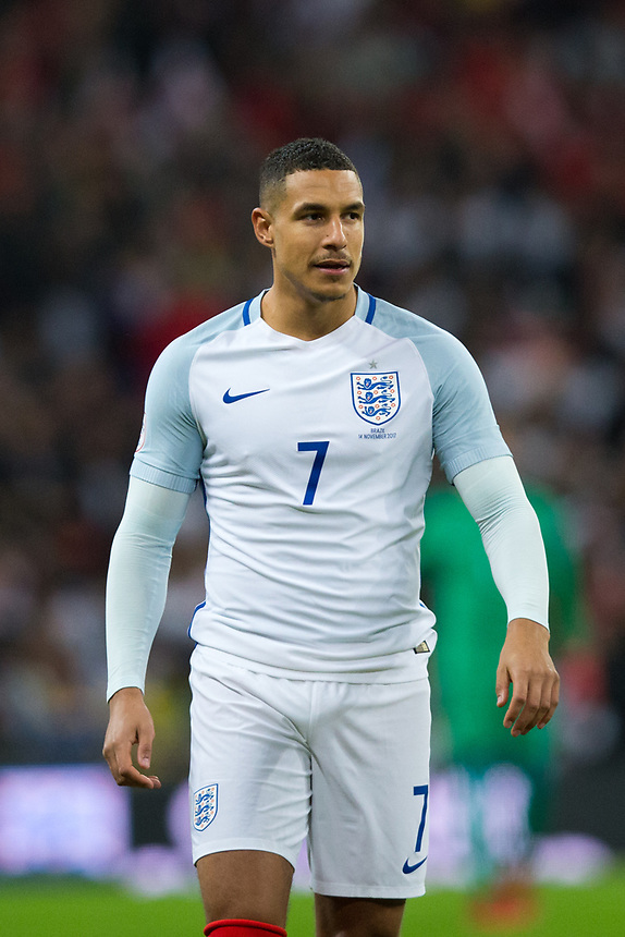 England's Jake Livermore <br /> <br /> Photographer Craig Mercer/CameraSport<br /> <br /> The Bobby Moore Fund International - England v Brazil - Tuesday 14th November 2017 Wembley Stadium - London  <br /> <br /> World Copyright &copy; 2017 CameraSport. All rights reserved. 43 Linden Ave. Countesthorpe. Leicester. England. LE8 5PG - Tel: +44 (0) 116 277 4147 - admin@camerasport.com - www.camerasport.com