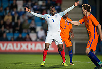 Stephy Mavididi (Preston North End (on loan from Arsenal) of England U20 during the International friendly match between England U20 and Netherlands U20 at New Bucks Head, Telford, England on 31 August 2017. Photo by Andy Rowland.
