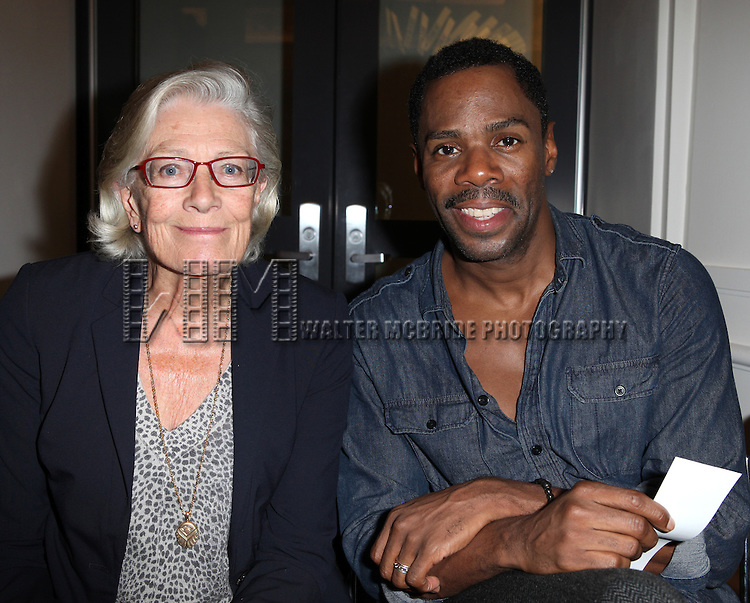 Vanessa Redgrave and Coleman Domingo attending the Unveiling of the Revitalized Public Theater at Astor Place in New York City on 10/4/2012.