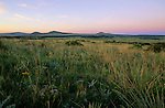 Peopling the Americas, Valley of Folsom site, Folsom, New Mexico, sunset, grassy plane,