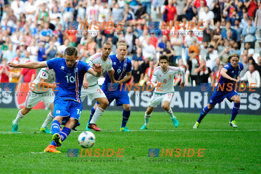 Gol Gylfi Sigurdsson Iceland Rigore Goal Penalty <br /> Marseille 18-06-2016 Stade Velodrome Football Euro2016 Iceland - Hungary / Islanda - Ungheria Group Stage Group F. Foto Franck Pennant / Panoramic / Insidefoto