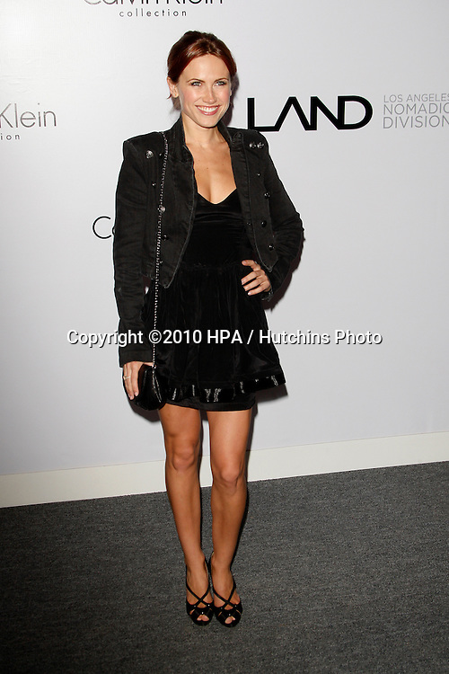 Vail Bloom.arriving at the Calvin Klein collection and LOS ANGELES NOMADIC DIVISION Present a Celebration of L.A. ARTS MONTH.Calvin Klein Store.Los Angeles, CA.January 28, 2010.©2010 HPA / Hutchins Photo....