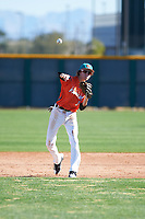 Vinnie Rodriguez (8) of Norco High School in Norco, California during the Baseball Factory All-America Pre-Season Tournament, powered by Under Armour, on January 13, 2018 at Sloan Park Complex in Mesa, Arizona.  (Zachary Lucy/Four Seam Images)