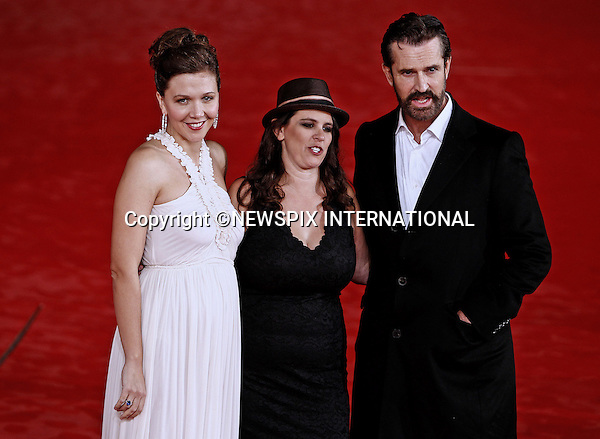 "MAGGIE GYLLENHAAL, TANYA WEXLER AND RUPERT EVERETT.attends the premiere of ""Hysteria"" at the 6th Rome International Film Festival, Rome, Italy_28/10/2011.Mandatory Credit Photo: ©Matteo Ciambelli/NEWSPIX INTERNATIONAL..**ALL FEES PAYABLE TO: ""NEWSPIX INTERNATIONAL""**..IMMEDIATE CONFIRMATION OF USAGE REQUIRED:.Newspix International, 31 Chinnery Hill, Bishop's Stortford, ENGLAND CM23 3PS.Tel:+441279 324672  ; Fax: +441279656877.Mobile:  07775681153.e-mail: info@newspixinternational.co.uk"