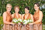 Bridesmaids at Lorraine Finnegan and Patrick Dennehy wedding in Ballygarry House Hotel, Tralee. L-r: Aoife Lawless, Denise Finnegan, Eva O'Donoghue and Caroline Dennehy............ ..............................   Copyright Kerry's Eye 2008