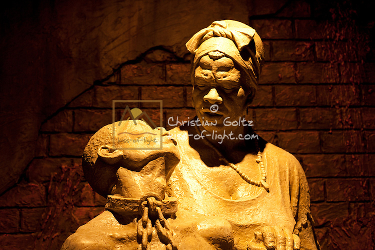 A statue of victims of the independence struggle in the Independence Museum in Windhoek.