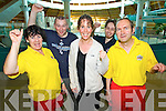 Pictured are staff members from the Aqua Dome, Tralee as it reopened on Monday, after the storm damage to the roof, l-r: Annette Cremin (lifeguard), Kieran Collins, Mags O'Sullivan (manager) Liam Kelly and Gerard O'Riordan (lifeguard)