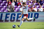 ORLANDO, FL - DECEMBER 03: Andi Sullivan #17 of Stanford University scores against UCLA during the Division I Women's Soccer Championship held at Orlando City SC Stadium on December 3, 2017 in Orlando, Florida. Stanford defeated UCLA 3-2 for the national title. (Photo by Jamie Schwaberow/NCAA Photos via Getty Images)