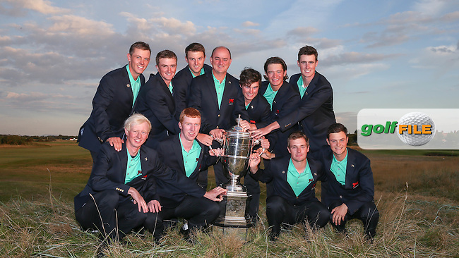 GB&amp;Ireland win the The Walker Cup 2015, played at Royal Lytham and St Anne's, Lytham St Anne's, Lancashire, England. 13/09/2015. Picture: Golffile | David Lloyd<br /> <br /> All photos usage must carry mandatory copyright credit (&copy; Golffile | David Lloyd)