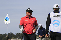 Ted Potter Jr. (USA) chips onto the 7th green and holes it during Sunday's Final Round of the 2018 AT&amp;T Pebble Beach Pro-Am, held on Pebble Beach Golf Course, Monterey,  California, USA. 11th February 2018.<br /> Picture: Eoin Clarke | Golffile<br /> <br /> <br /> All photos usage must carry mandatory copyright credit (&copy; Golffile | Eoin Clarke)