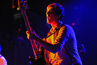 Bassist Jordan Laz of Brooklyn Garage Pop rockers Locksley performs at the Fillmore Theatre , Irving Plaza NYC ( June 15, 2008)
