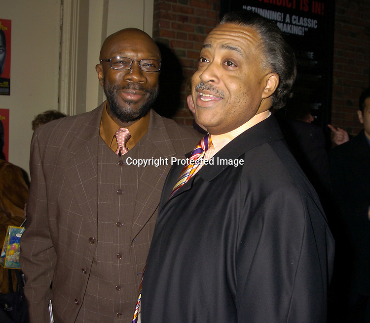 Isaac Hayes and Reverand Al Sharpton ..at the Broadway Opening of Julius Caesar on April 3, 2005 at the Belasco Theatre. ..Photo by Robin Platzer, Twin Images