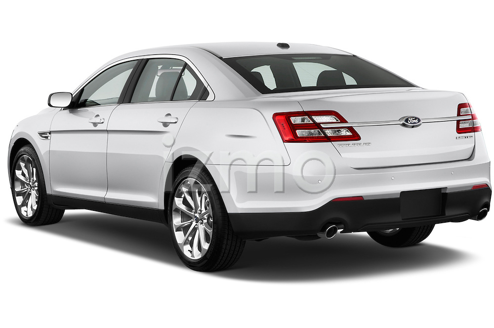Rear three quarter view of a 2017 Ford Taurus LTD