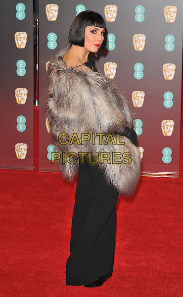 Noomi Rapace at the EE British Academy Film Awards (BAFTAs) 2017, Royal Albert Hall, Kensington Gore, London, England, UK, on Sunday 12 February 2017.<br /> CAP/CAN<br /> &copy;CAN/Capital Pictures