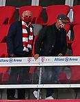 23.05.2020, Allianz Arena, nph00250, , München, GER, 1.FBL, FC Bayern München vs Eintracht Frankfurt 23.05.2020 , <br /><br />Nur für journalistische Zwecke!<br /><br />Gemäß den Vorgaben der DFL Deutsche Fußball Liga ist es untersagt, in dem Stadion und/oder vom Spiel angefertigte Fotoaufnahmen in Form von Sequenzbildern und/oder videoähnlichen Fotostrecken zu verwerten bzw. verwerten zu lassen. <br /><br />Only for editorial use! <br /><br />DFL regulations prohibit any use of photographs as image sequences and/or quasi-video..<br />im Bild<br />Ehrentribuene mit Uli HOENESS (former FCB President ),  Franz BECKENBAUER ( ex FCB President, captain of honor FCB)  <br />    <br /> Foto: Peter Schatz/Pool/Bratic/nordphoto